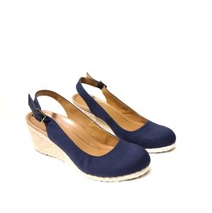 Vionic Carolina Wedges in Navy size 11